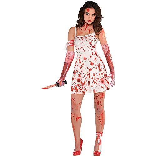amscan 848738-55 Halloween-Kostüm, blutiges Kleid, 1 Stück, weiß, m