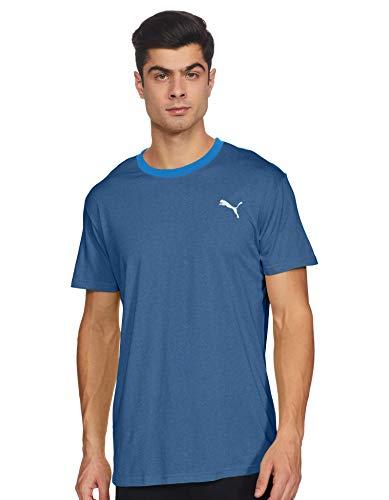 PUMA Herren T-Shirt Reactive Color Block Tee, Dark Denim/White/Palace Blue, L, 519046