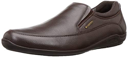 Hush Puppies Men's Adrian Slip On Brown Leather Loafers-7...