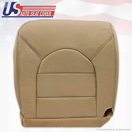 1999 2000 Compatible with Ford F250 F350 Lariat Driver Bottom Replacement Leather Seat Cover Tan