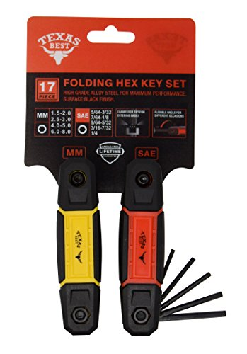 Texas Best Folding Metric and SAE Hex Keys | Durable Construction 2 Pack