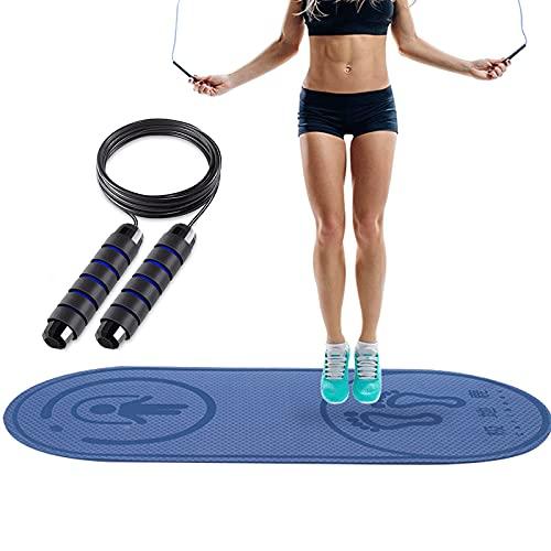 Alfombrilla de yoga antideslizante para saltar con cuerda de saltar para adultos y niños, ideal para el hogar, gimnasio, sala de salto