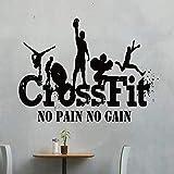 Gym Crossfit Sport Vinilo Extraíble Calcomanías Etiqueta De La Pared Decoración Para El Hogar...