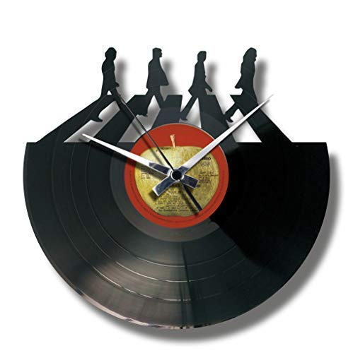 DISCOCLOCK - Orologio in vinile SILENZIOSO e PERSONALIZZABILE - THE BEATLES -IDEA REGALO PER FAN DEI BEATLES