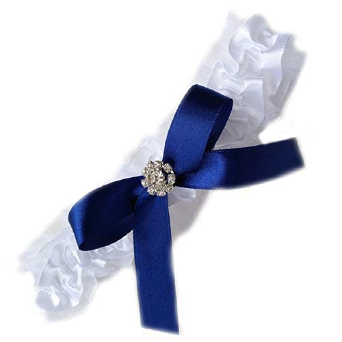 Unbekannt Ausgefallen was Blaues SEXY Strumpfband Strass Spitze Braut Hochzeit Blau