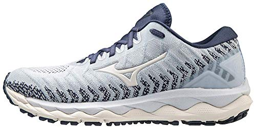 Mizuno Women's Wave Sky 4 WAVEKNIT Running Shoe, Arctic ice, 9.5 B US