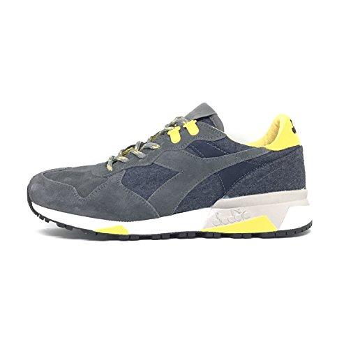 Diadora Heritage, Uomo, Trident 90 Loden Gray, Suede / Lana, Sneakers, Grigio, 41 EU