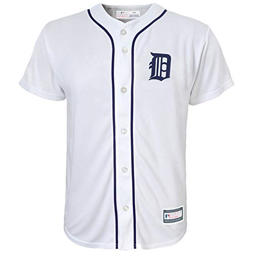 Outerstuff MLB 8-20 Youth Blank Cool Base Home Color Team Jersey (X-Large 18/20, Detroit Tigers)
