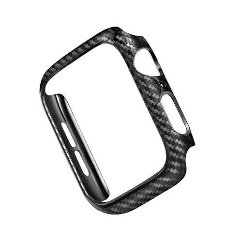 Riyeri Custodia Compatibile con iWatch Series 4 40mm Case PC Ultrasottile Placcatura Antipolvere Pellicola Protettiva con Trasparente Coperchio Cover per Apple Watch Series 4 44mm Case (44mm, Black)