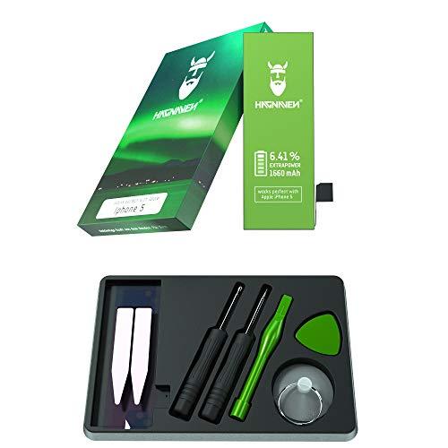 Batería Hagnaven® Li-polímero para Apple iPhone 5 | Batería Premium con Herramientas | Potente Batería de sustitución | 1540 mAh | Celdas MÁXIMA AUTONOMÍA