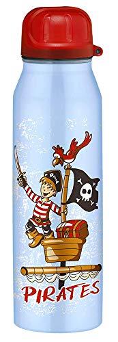 alfi 5337.643.050 Isolier-Trinkflasche isoBottle II, Edelstahl Pirates Blau 0,5 Liter, 12 Stunden heiß, 24 Stunden kalt, BPA-Free