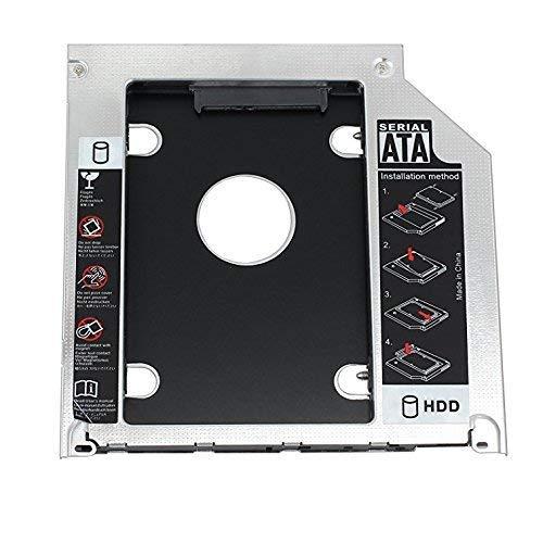 HOPEMOB Caddy Adaptador para Segundo Disco Duro SSD 12.7 mm HP DELL Sony Samsung Acer ASUS (12.7 mm)