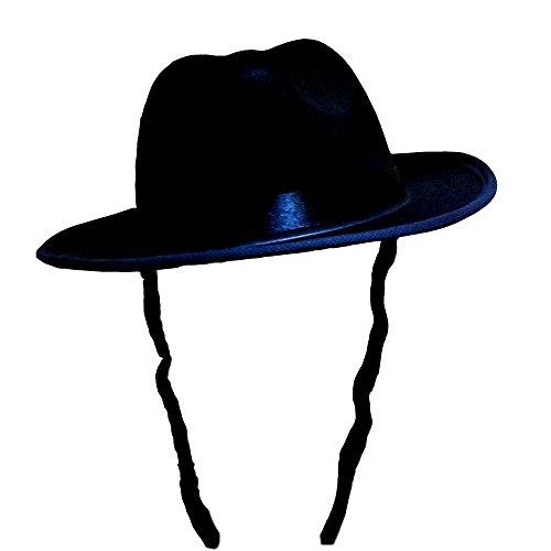 Dress Up America 678.0 Hut (Schwarz) Erwachsene Fedora mit Seitenschlössern, Einheitsgröße