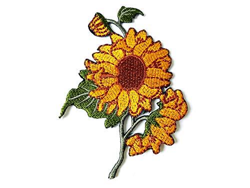 TH Sonnenblume Garten Pflanze Sonnenblume Blume Granny Chic Retro Boho Bestickte Applikation zum Aufnähen Aufbügeln für Hut Jacken Taschen Jeans T-Shirt Rucksäcke Kostüm