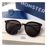 Fashion Vintage UV400 Outdoor Shades Women Mens Retro Round Polarized Sunglasses for JACK HI-black