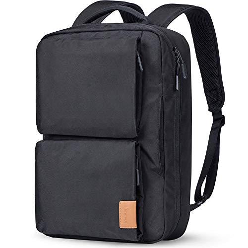 Lymmax Laptop Backpack 15.6 Inch, Hidden Handle & Shoulder Strap Design Waterproof College Backpack, Slim Convertible Rucksack for Business School Travel Daypack