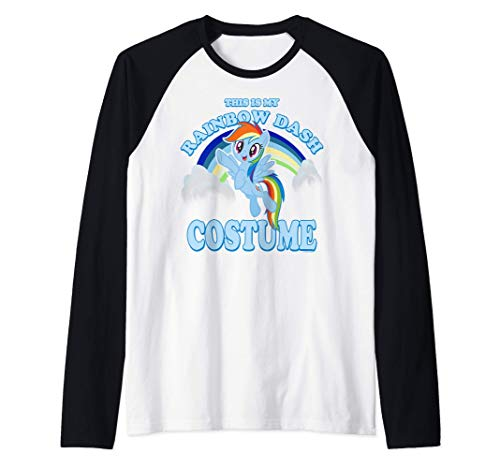 My Little Pony Rainbow Dash Halloween Costume Raglan Baseball Tee