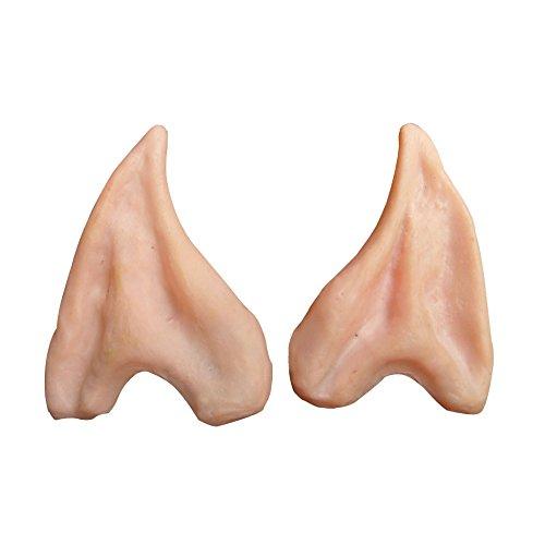 Elfen-Ohren mit Langer Spitze - Karneval Fasching Party - 1 Paar - Hautfarben