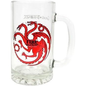 Juego de Tronos SDTSDT27344 - Jarra para cerveza de cristal, diseño Targaryen
