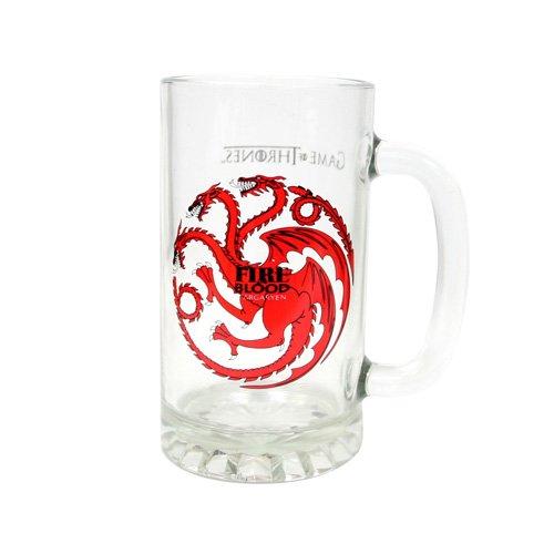 """Juego de Tronos SDTSDT27344 - Jarra para cerveza de cristal, diseño Targaryen""""Fire And Blood"""" (SD Toys SDTSDT27344) - Jarra Fire and Blood Targaryen"""