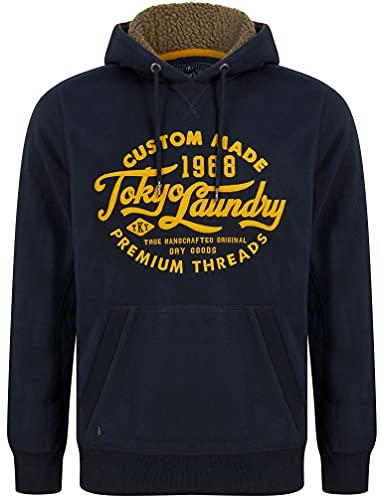 Tokyo Laundry Sudadera con capucha Logan para hombre con forro polar, Luthor - Navy, XXL