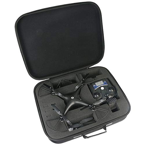 co2crea Hard EVA Travel Case for Holy Stone HS110D / DBPOWER Discovery WiFi FPV Camera Drone Training Quadcopeter