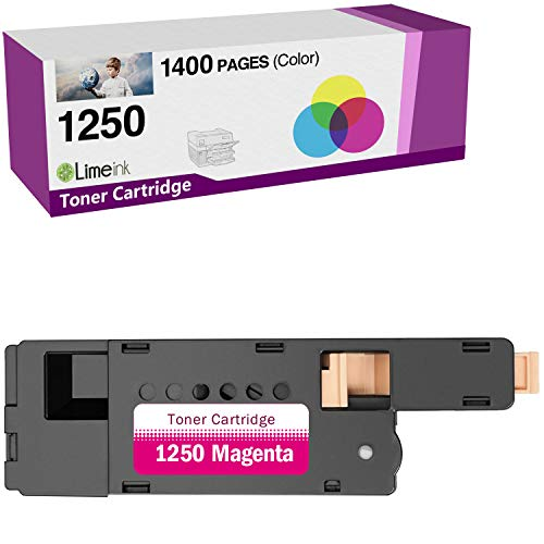 Limeink 1 Magenta Compatible High Yield Toner Cartridges Replacement for Dell 1250 Laser Printers 1250c 1350cnw 1355cn 1355w 1355cnw C1760nw C1765nf C1765nfw C1760