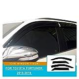 WRDD Ventanillas Viento y Lluvia Devlectores De Ventanas Laterales Protector De Visera De Viento Rain Guard Windshield Accesorios DE Coche para Toyota HILUX FORTUNER SW4 2016 2017 Deflectores Aire