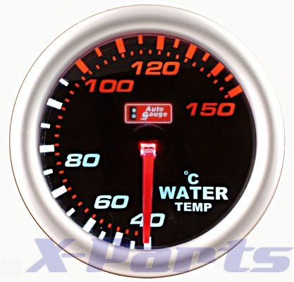 PLASMA Wassertemperatur-Anzeige AutoGauge Plasma - Design