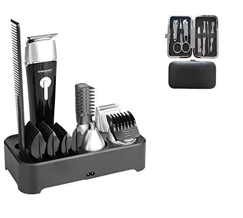 Sminiker Haarschneidemaschine Profi Haarschneider 5 in 1 Männer Haartrimmer Bartschneider Barttrimmer Präzisionstrimmer Langhaarschneider Herren