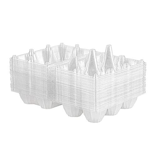 Beada 36 cajas de huevos de plástico transparente con soporte para huevos para pastos familiares, almacenamiento de refrigerador, 6 rejillas