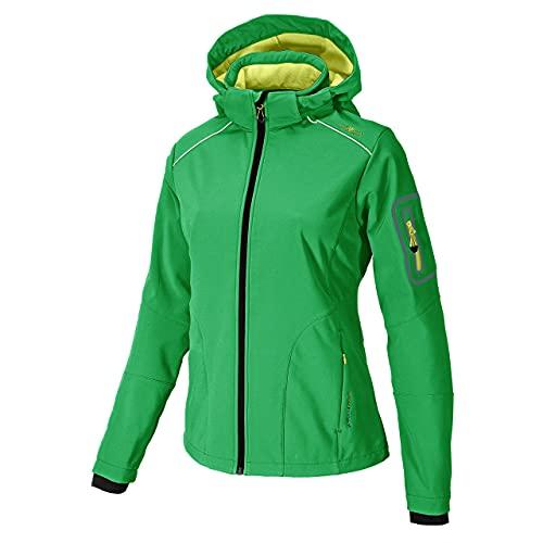 CMP – F. LLI Campagnolo Veste Softshell pour femme, femme, Softshell Vert Vert - Irish-Lime Green 2XS