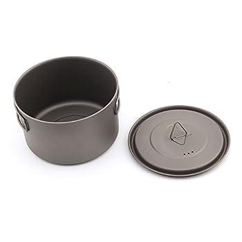 TOAKS Tasse/Pot de Camping Portable Ultraléger en Titane 700ml[POT-700-D115-L]