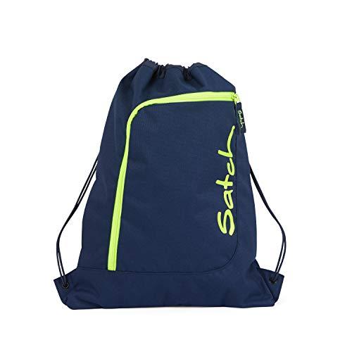 Satch Sportbeutel - 12l - Toxic Yellow - Dunkelblau