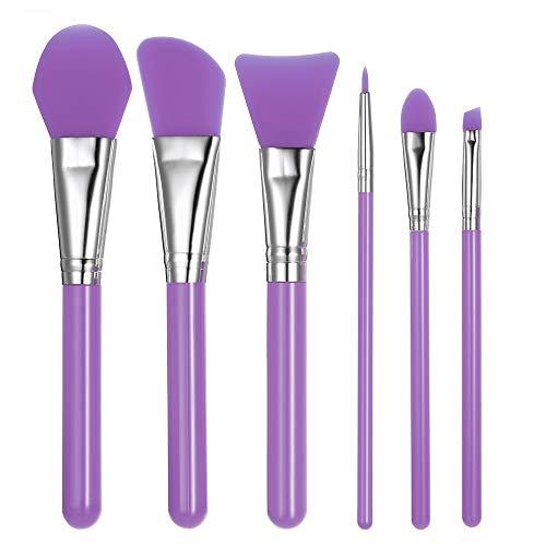 Nrpfell PúRpura 6 Piezas/Conjunto Cepillo Maquillaje
