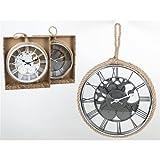 Reloj Pared Vintage Silencioso 30 cm con Colgador | Decoración Pared Decoración Vintage | Reloj Pared Madera Dormitorio Salón Cocina Oficina Bar | Regalo Original (Blanco)