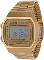 Casio Digital Dial Stainless Steel Watch - A168WG-9WDF
