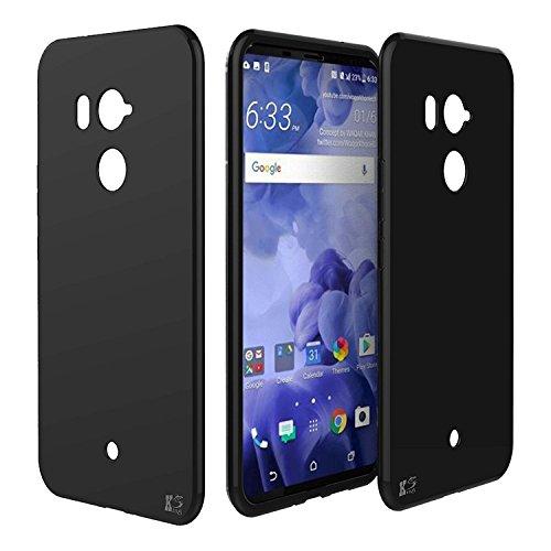KingShark Custodia HTC U12 Plus ultra caso della copertura della cassa [sottile sottile] gomma flessibile del gel di TPU molle...