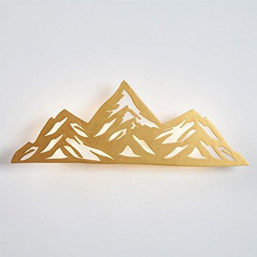 LINGZHIGAN Dormitorio cabecera LED lámpara de Pared Arte Personalidad Creativa Pasillo escaleras decoración luz de la Noche (Color : Golden)