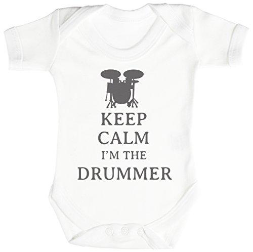 Keep Calm I'm The Drummer Body bébé - Gilet bébé - Naissance Blanc