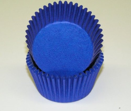 Dark Blue Glassine Baking Cups Cupcake Liners 50 ct