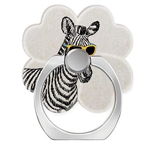 NSNNS 360 Grad drehbare Kreative Ringschnalle Klammer Halterung für Universal Telefon cool niedlich lustig Zebra Sketch mit trendigen Brillen Speck iPhone Case (%E5%8E%9F%E5%9B%BE)