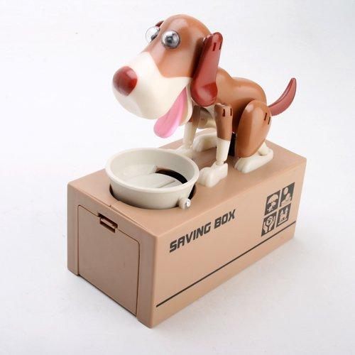 Eshowy - Hucha robótica de perro que se come las monedas