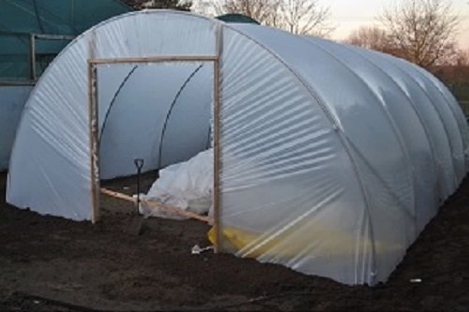 Direct Plants 14ft x 18ft Full Curve Conventional Polytunnel KitHeavy Duty Professional Greenhouse