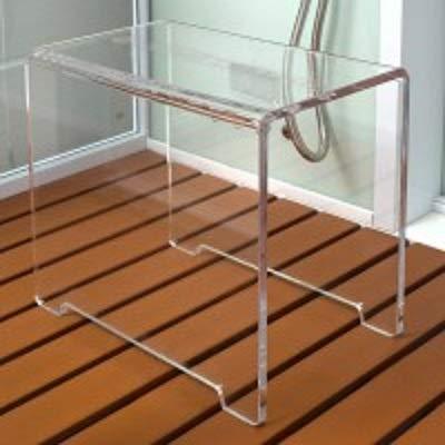 Home Deluxe - Duschhocker aus Acrylglas - Maße: 37 x 39 x 27,5 cm - Belastbar bis 150 kg