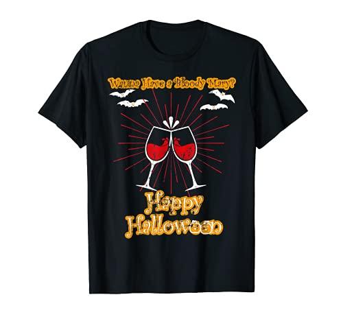 Bloody Mary Happy Halloween Bat Vintage disfraz de abanico Camiseta