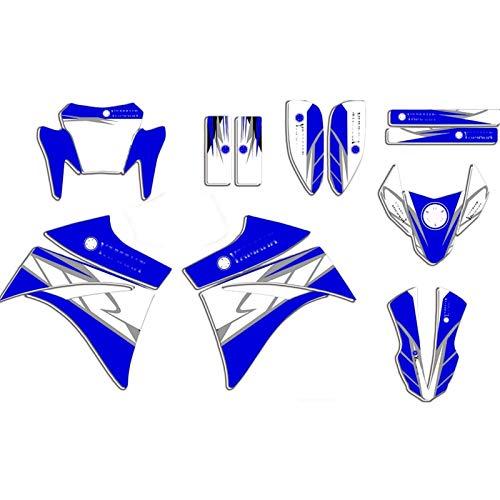 Motocicleta Completa Pegamento Kit para Yamaha XT660R XTR660 XT 660R XT 660 R Pegatinas de gráficos completos Pegatinas Fondo de Motocicletas Feriaturas Juego de calcomanías (Color : Blank)