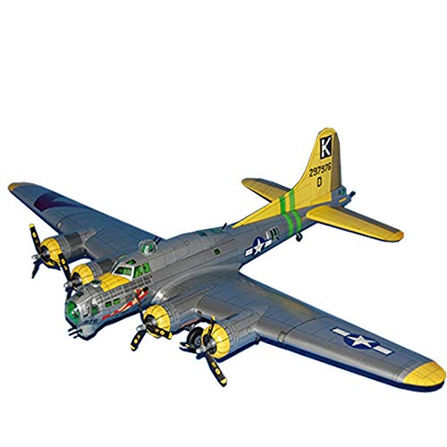 Lllunimon 1/47 US B-17G Air Fortress Bomber Aircraft Model Kit, DIY 3D Paper Avión Modelo A Hecho A Mano Hobby Militar