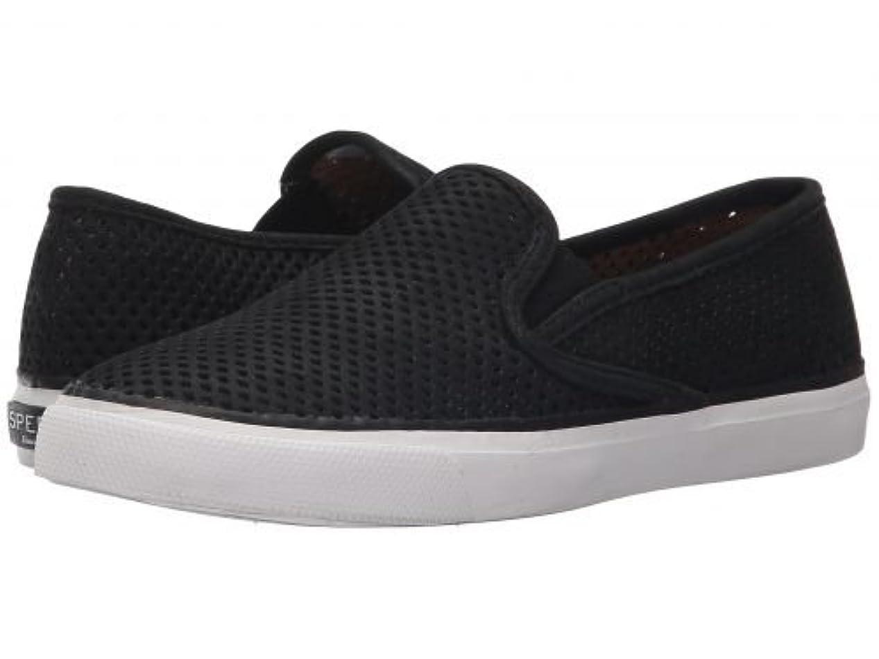 バンカー爆発する手つかずのSperry(スペリー) レディース 女性用 シューズ 靴 スニーカー 運動靴 Seaside Perfs - Black [並行輸入品]
