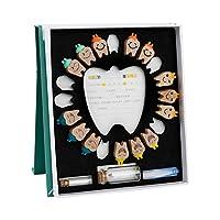 木造子供の落葉歯収納箱、赤ちゃんの歯の収納箱、歯の損失記念コレクション、クリエイティブなホームプレゼント、落葉歯のコレクション。